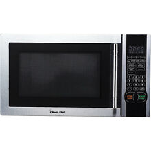 Microwave Oven Stainless Steel Countertop Digital Auto defrost 1 1 Cu  Ft  New