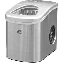 Stainless Steel Igloo Compact Ice Maker   ICE117 Portable 26lbs Countertop