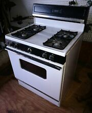 HOTPOINT   4 8 CU FT  FREE STANDING GAS RANGE  WHITE