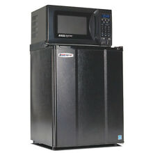Compact Refrigerator and Microwave  2 4 cu ft  Black
