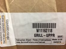 Kitchenaid Stainless Steel Refrigerator Upper Grill W11162118