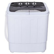 8 Lbs Compact Portable Mini Twin Tub Washing Machine Washer Spinner Spin Laundry