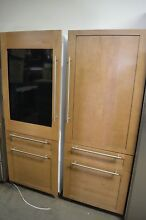 Monogram 30  Panel Ready Bottom Freezer Refrigerator Set ZIC30GNHII ZIK30GNHII