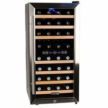 Koldfront 32 TWR327ESS Bottle Free Standing Dual Zone Wine Cooler   Black and