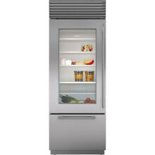 Sub Zero BI 30UG S TH LH 30  Built In Refrigerator Bottom Freezer Stainless  LH