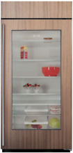 Sub Zero BI 36RA O RH 36  Built In Refrigerator Panel Ready  Glass   Right Hinge