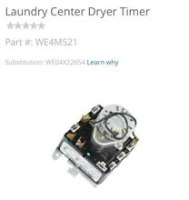 GE DRYER TIMER START BUTTON  WE4M521 WE4M416 FOR STACK W D