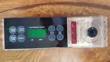 GE Electric Range Control Board Timer and Face Plate 164D3147G023 991970374