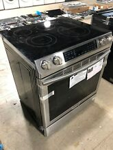 Samsung 5 8 cu  ft  Slide In Electric Range Stainless Steel NE58K9430SS