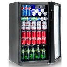 120 Compact Can Beverage Mini Fridge Refrigerator W  Glass Door Dorm Office Home
