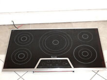 NEW THERMADOR CET365NS 36 IN TOUCH CONTROL ELECTRIC COOKTOP BLACK STAINLESS