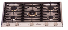 Dacor HCT365GS NG Heritage 36  Built In Gas Cooktop Stainless Steel 5 Burners