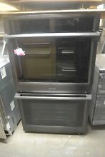 Samsung 30  Black Stainless Electric Double Convection Wall Oven NV51K6650DG