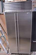 Sub Zero 36  Built In Side by Side Stainless Steel Refrigerator 661 S3