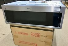 1 1 cu  ft  Over the Range Low Profile Microwave Hood Combination in Fingerprint