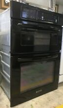 Black Kitchenaid Built In Wall Oven And Microwave Combo Unit Model  KEMS308SBL00