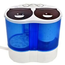 Portable Mini Washing Machine Double Twin Tub Washer Spin Spinner For Camping US