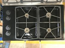 36  Black Dacor Propane Gas Cooktop With Four Cast Iron Burners Model   SGM365S