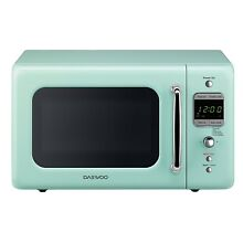 Small Microwave oven Retro Countertop 0 7 Cu  Ft 700W Mint Green Stylish Modern