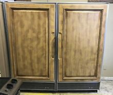 36  Wood Paneled SubZero Built In Fridge And Freezer Model  s 501R And 501F