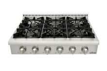 Thor Kitchen 36  Gas Range top CSA Listed HRT3606U M1 W 6 burner StainlessSteel