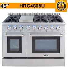 Thor 48  Gas Range HRG4808U Professional Stainless Steel 6 burners Gas Range New