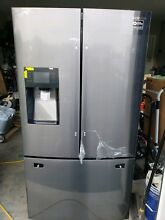 New SAMSUNG 24 6CF French Door Refrigerator Black Stainless Steel