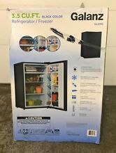 Galanz 3 5 cu ft Compact Single Door Refrigerator  Black