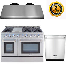 Thor 48  Gas Range HRG4808U Stainless Steel 6 burners Range Hood  24  Dishwasher