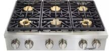 Dacor DYRTP486SNG Discovery 48 Inch Gas Rangetop in Stainless Steel 6 Burners