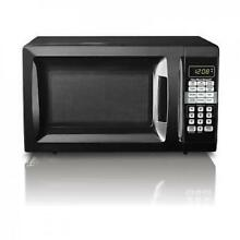 Hamilton Beach 0 7 Cu Ft Microwave Oven Countertop Small Space Apartment Compact