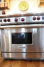 Wolf 36 gas range with griddle