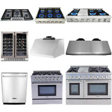 Major Appliances Cooking Gas Range Stoves  Dishwasher  Range Hood  Wine Cooler