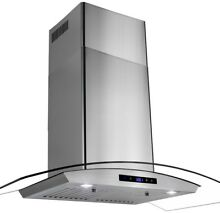 Stove Glass Stainless Steel Range Hood Island Wall Mount 36 Inch Under Cabinet