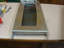 GE STAINLESS STEEL MICROWAVE DOOR   PART  8205007