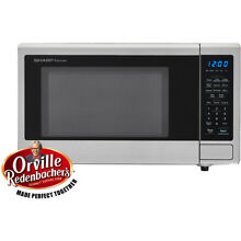 Sharp Carousel 1 1 cu  ft  Countertop Microwave in Stainless Steel SMC1132CS
