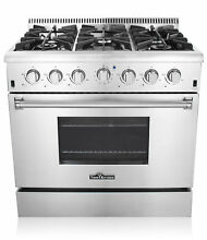36  gas stove Stainless Steel 6 burners Kitchen Gas Range CSA Certified HRG3618