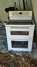 LG White Scott Ceran Electric Stove And Double Oven Combination