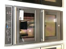 GE Cafe 30  Double Oven with Convection in Black Slate  CT9550EKDS