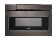 Sharp SMD2470AH 24  Black Stainless Microwave Drawer
