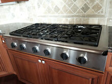 DACOR EPICURE SERIES ESG486SBK 48  LP PROPANE GAS 6 BURNER COOKTOP STAINLESS