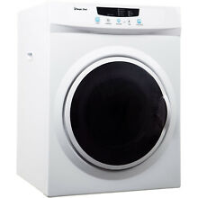 3 5 Cu  Ft  Compact Electric Dryer in White By Magic Chef Small Home Appliance