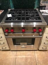 Wolf GR304 30 Inch Pro Style Gas Range 4 4 cu  ft  Convection Oven FREE SHIPPING