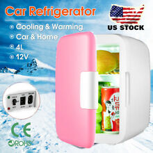 Portable Mini 4L Fridge Cooler Warmer for Coke Beer Car Boat Home Office AC DC