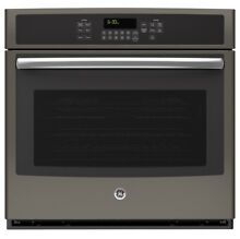 GE Silver 30 inch Built In Single Convection Wall Oven
