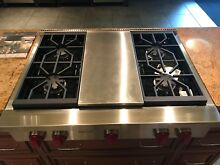 Wolf SRT364C 36 Inch Pro Style Gas Rangetop w  4 Dual Stacked Sealed Burners
