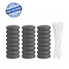 24 Pcs Lint Trap Washing Machine Lint Trap Laundry Sink Drain Hose Screen Filter