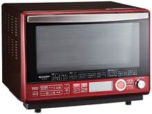 Sharp superheated steam oven range 2 stage cooking 31L Red RE SS10B R