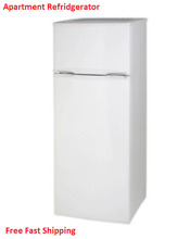 7 4 Cu  Ft  Top Freezer Apartment Refrigerator Home Appliances Compact White New