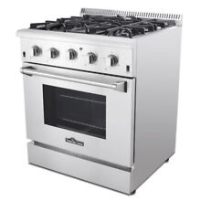 30  Gas Range with 4 Burners Professional Stainless Steel range gas CSA Listed